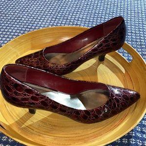 ‼️Franco Sarto Burgundy Low Heels